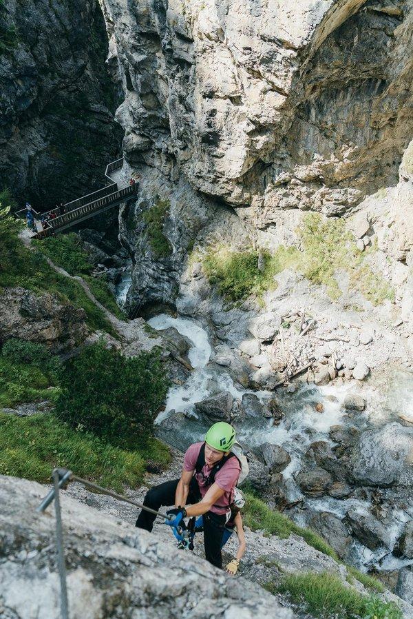 Klettersteig Adrenalin in der Galitzenklamm